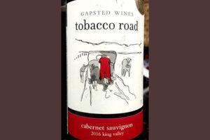Отзыв о вине Tobacco Road Cabernet Sauvignon 2016