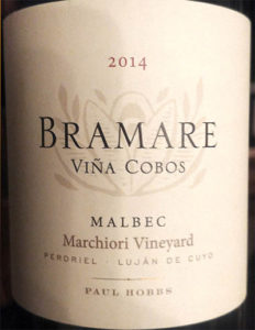 Отзыв о вине Bramare Vina Cobos Paul Hobbs Malbec 2014