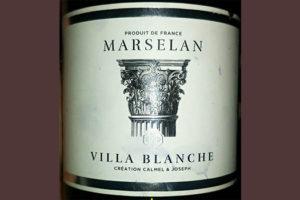 Отзыв о вине Calmel & Joseph Marselan Villa Blanche 2017