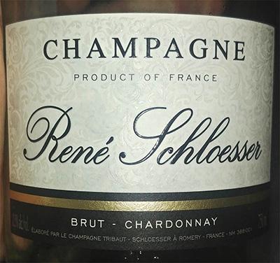 Отзыв об игристом вине Champagne Rene Schloesser brut Chardonnay