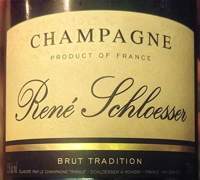 Отзыв об игристом вине Champagne Rene Schloesser brut tradition