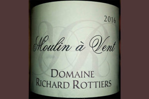 Отзыв о вине Domaine Richard Rottiers Moulin a Vent 2016
