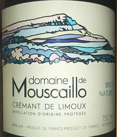 Отзыв об игристом вине Domaine de Mouscaillo Cremant de Limoux brut nature 2016
