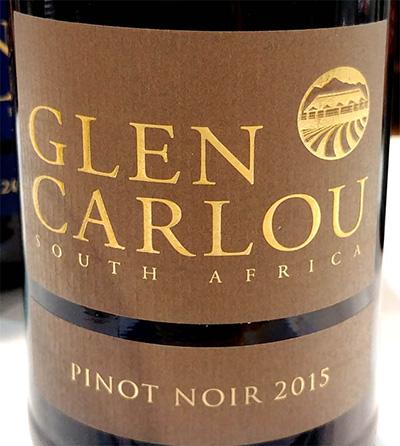 Отзыв о вине Glen Carlou Pinot Noir 2015