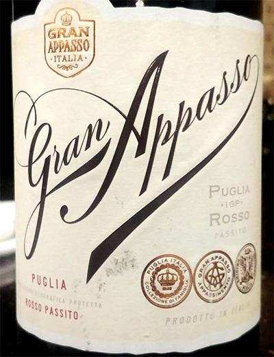 Отзыв о вине Gran Appasso rosso passito Puglia 2016