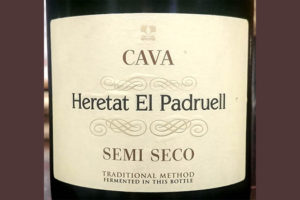 Отзыв об игристом вине Heretat El Padruell semi seco Cava 2017