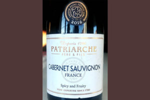 Отзыв о вине Patriarche Pere & Fils Cabernet Sauvignon 2016