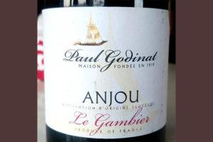 Отзыв о вине Paul Godinat Le Gambier Anjou rouge 2017