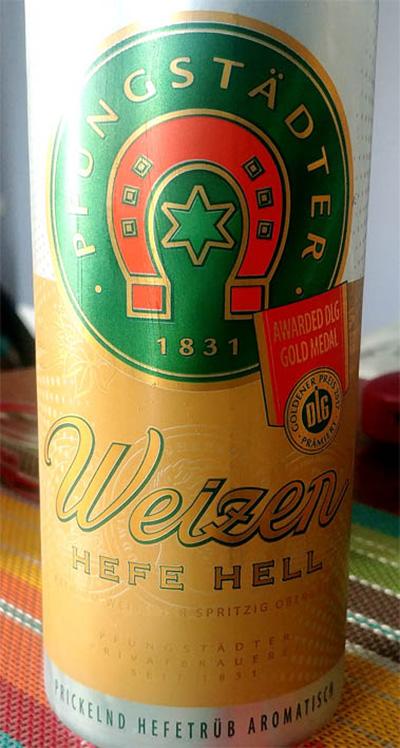 Отзыв о пиве Pfungstadter Weizen hefe hell