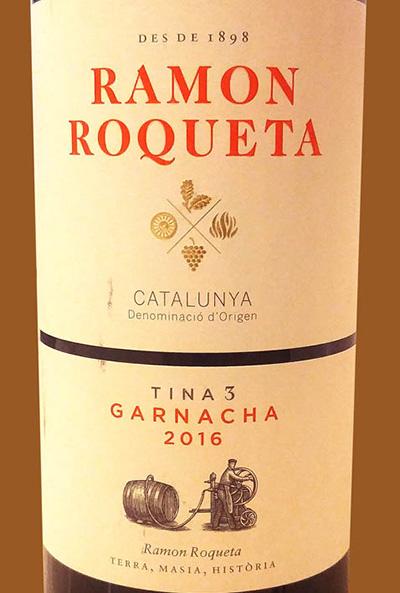 Отзыв о вине Ramon Roqueta Garnacha 2016
