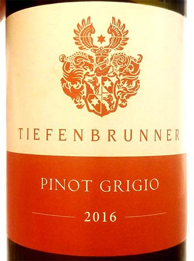 Отзыв о вине Tiefenbrunner Pinot Grigio 2016