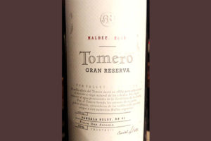 Отзыв о вине Tomero Malbec Gran Reserva 2013