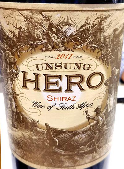 Отзыв о вине Unsung HERO Shiraz 2017