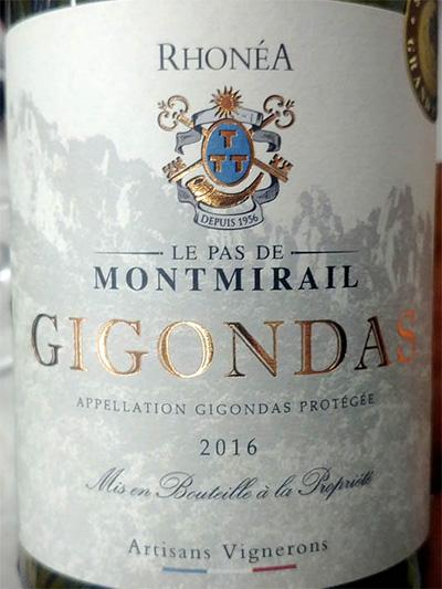 Отзыв о вине Artisans Vignerons Le pas de Montmirail Gigonda rouge 2016