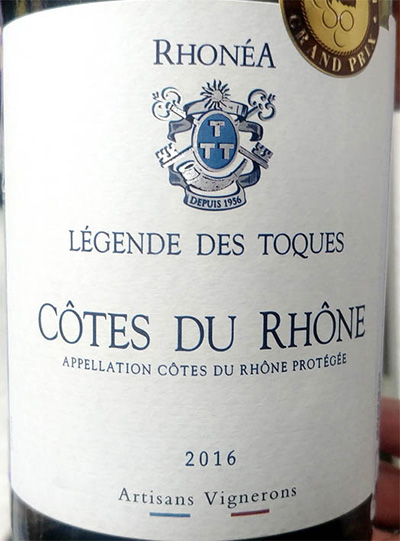 Отзыв о вине Artisans Vignerons Legende des Toques blanc 2016