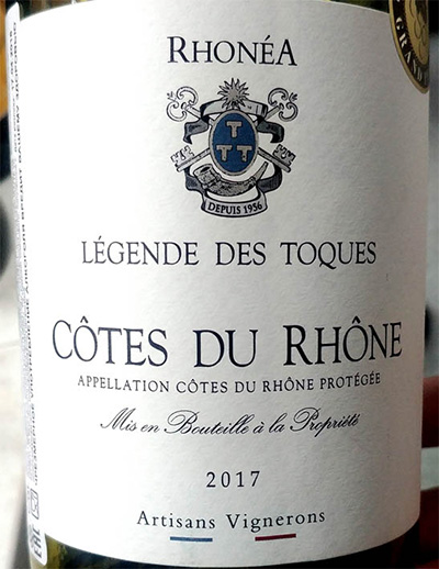 Отзыв о вине Artisans Vignerons Legende des Toques rouge 2017
