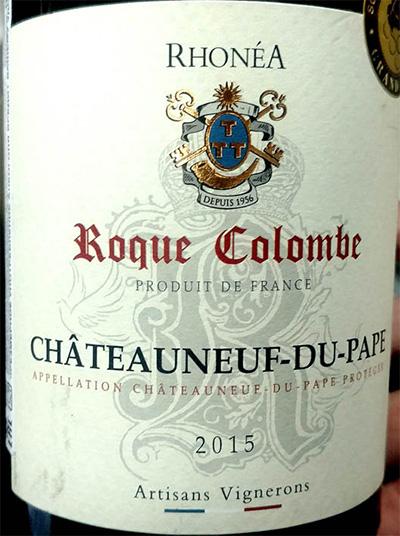 Отзыв о вине Artisans Vignerons Roque Colombe Chateauneuf-du-Pape rouge 2015