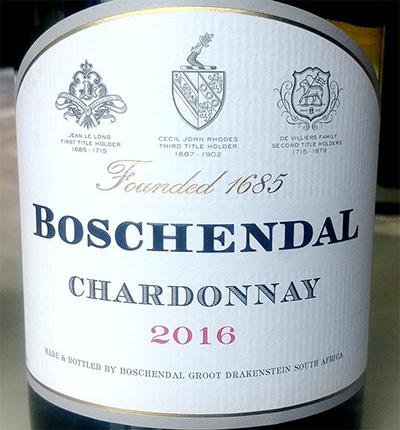 Отзыв о вине Boschendal Chardonnay 2016