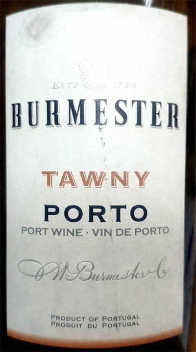 Отзыв о портвейне Burmester Tawny Porto 2017
