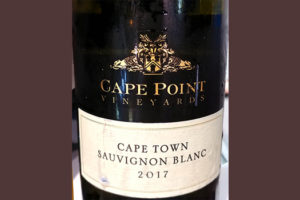 Отзыв о вине Cape Point Vineyards Cape Town Sauvignon Blanc Robertson&Sinclair 2017
