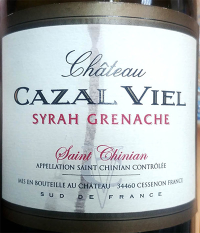 Отзыв о вине Chateau Cazal Viel Syrah Grenache 2015