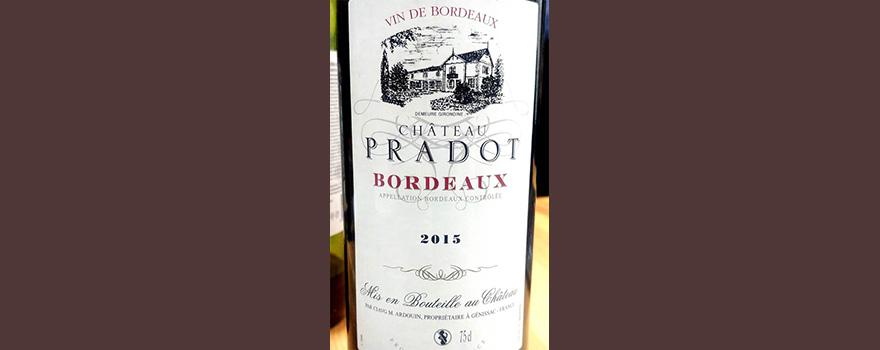 Отзыв о вине Chateau Pradot Bordeaux 2015