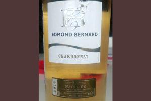 Отзыв о вине Edmond Bernard Chardonnay 2016