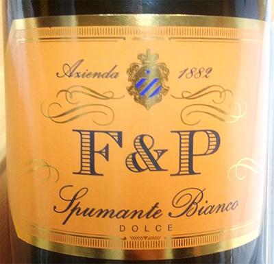 Отзыв об игристом вине F & P Spumante bianco dolce 2017