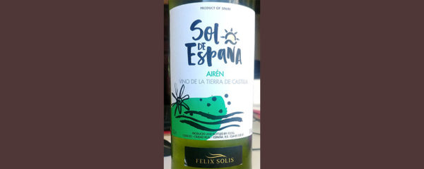 Отзыв о вине Felix Solis Sol de Espana Airen 2016