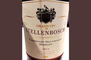 Отзыв о вине Grand Vin de Stellenbosch Cabernet Sauvignon Merlot 2014