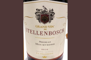 Отзыв о вине Grand Vin de Stellenbosch Shiraz Mourvedre 2016