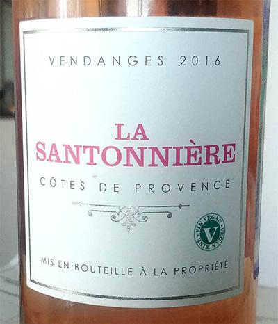Отзыв о вине La Santonniere Cotes de Provence Vendanges 2016