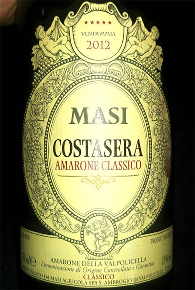 Отзыв о вине MASI Costasera Amarone della Valpolicella Classico 2012