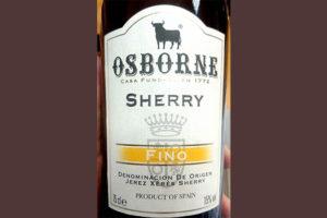 Отзыв о хересе Osborne Sherry Fino 2016