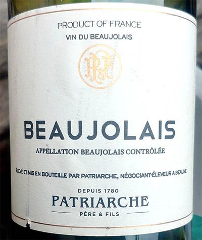 Отзыв о вине Patriarche Pere & Fils Beaujolais 2011