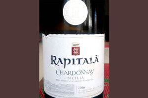 Отзыв о вине Rapitala Chardonnay Sicilia 2016