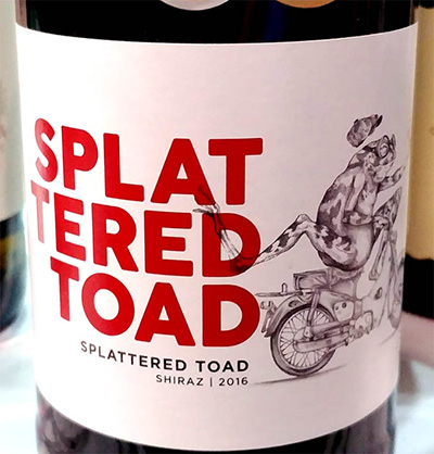 Отзыв о вине Splattered Toad Shiraz 2016