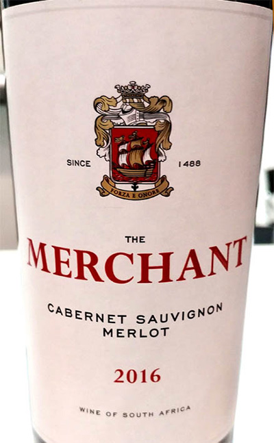 Отзыв о вине The Merchant Cabernet Sauvignon Merlot 2016