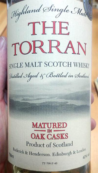 Отзыв о виски The Torran single malt 0,7 л