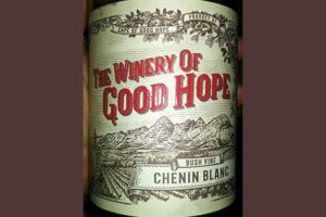 Отзыв о вине The Winery Of Good Hope Chenin Blanc 2016