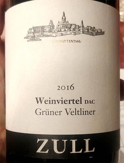 Отзыв о вине Weinviertel DAC Gruner Veltliner Zull 2016