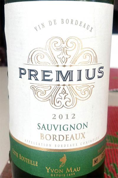 Отзыв о вине Yvon Mau Premius Sauvignon Boerdeaux 2012