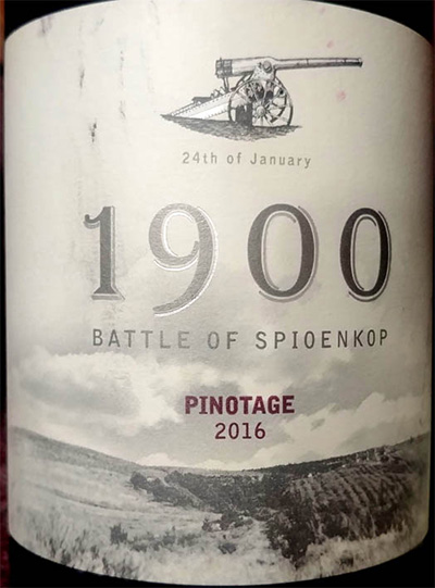 Отзыв о вине 1900 Battle of Spioenkop Pinotage 2016