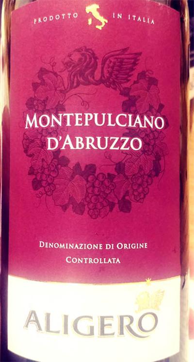 Отзыв о вине Aligero Montepulciano d'Abruzzo 2016