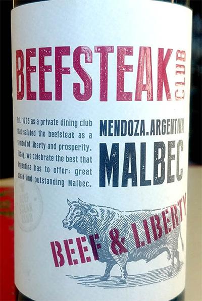 Отзыв о вине Beefsteak Club Malbec Beef & Liberty 2017