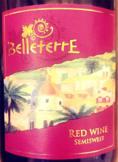 Отзыв о вине Belleterre Red semisweet 2017