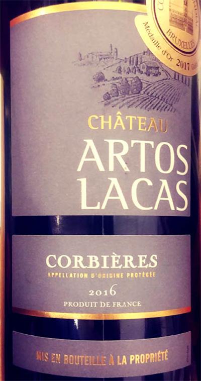 Отзыв о вине Chateau Artos Lacas corbieres 2016
