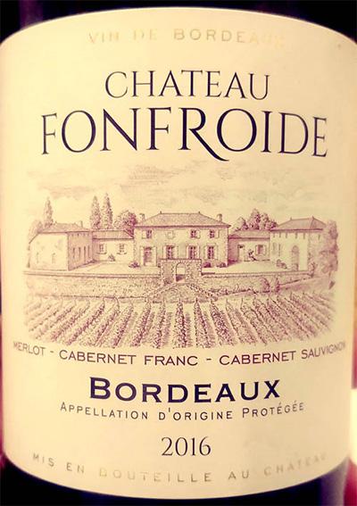 Отзыв о вине Chateau Fonfroide 2016