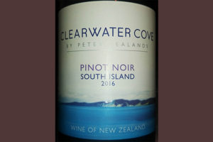 Отзыв о вине Clearwater Cove by Peter Yealands Pinot Noir South Island 2016