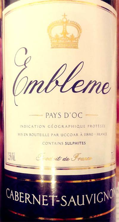 Отзыв о вине Embleme Cabernet Sauvignon Pays d'Oc 2017